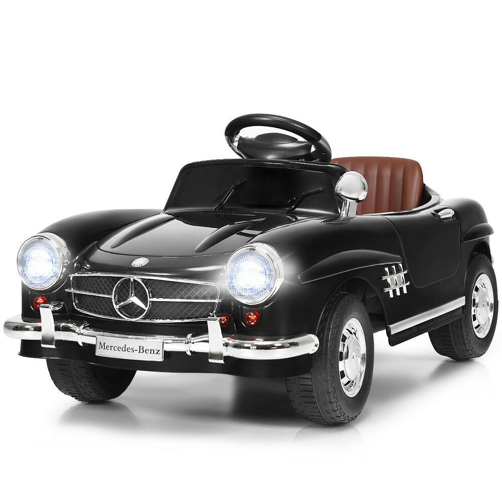 New black mercedes benz 300sl amg rc electric toy kids for Mercedes benz toddler car