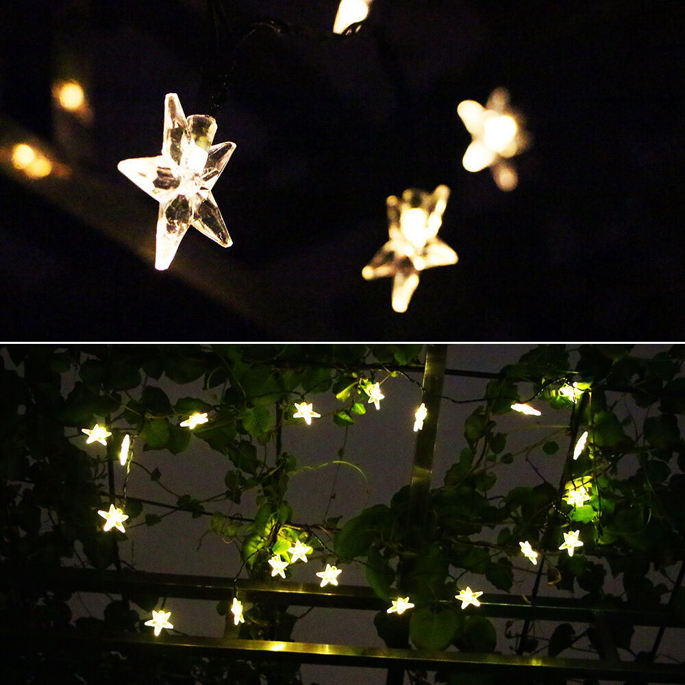 20 LED Solar Powered Outdoor String Lights Waterproof for Garden Patio Party Wed eBay
