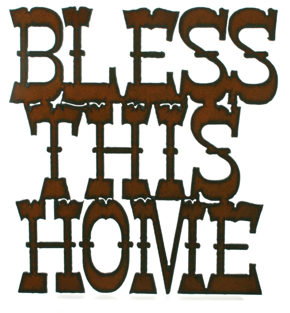 Bless This Home Rustic Kitchen Wall Decor Rustic Metal Sign Ebay