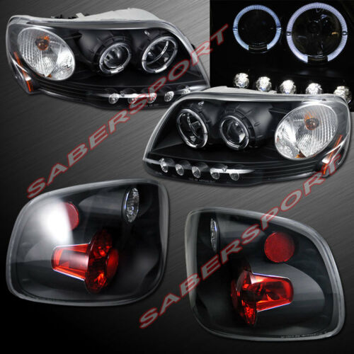 black-halo-projector-headlights-taillights-for-199782000-f150-flareside