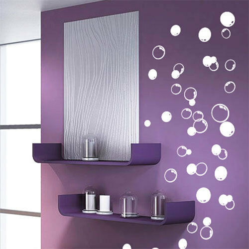 58 bubbles bathroom window shower tile wall stickers wall for Bathroom wall decor uk