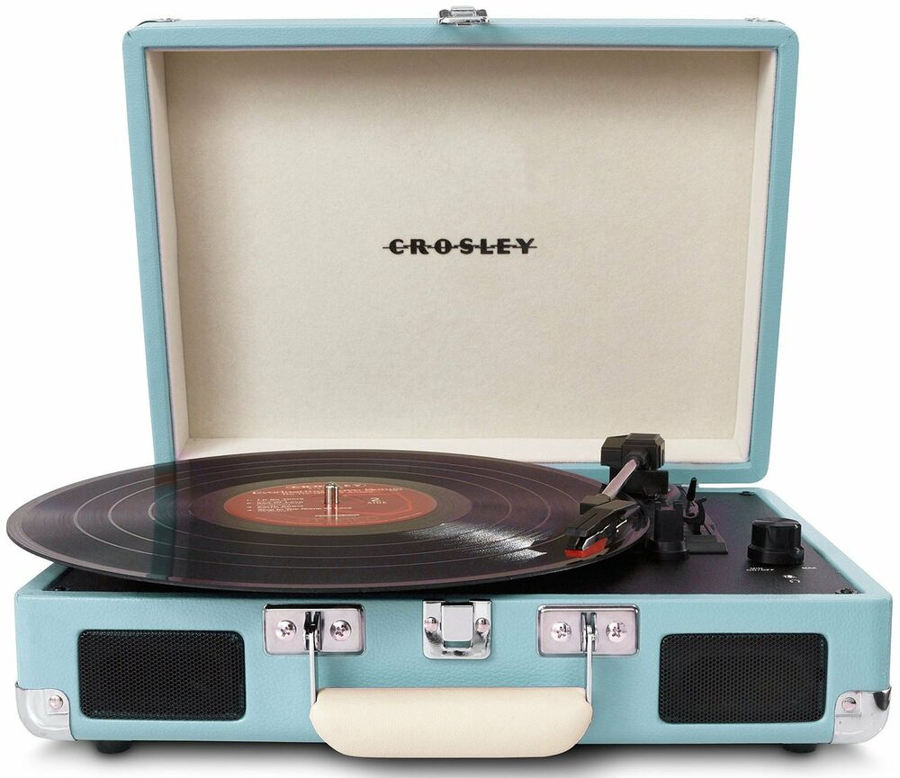 crosley cr8005a tu cruiser turntable turquoise vinyl portable record player ebay. Black Bedroom Furniture Sets. Home Design Ideas