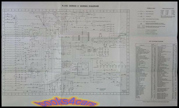 Jaguar Xj6c Electrical Wiring Diagram Wall Chart Manual