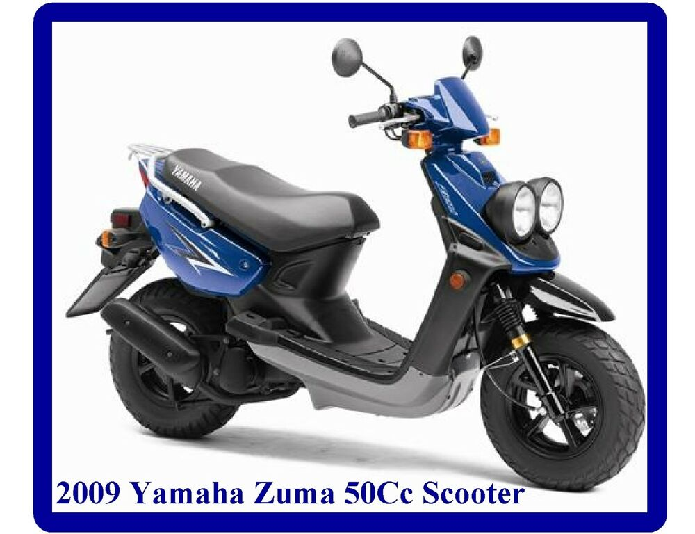 2009 yamaha zuma 50cc scooter refrigerator tool box magnet man cave item ebay. Black Bedroom Furniture Sets. Home Design Ideas