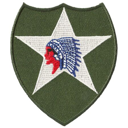 img-Ecusson badge patche 2nd infantry division thermocollant patch