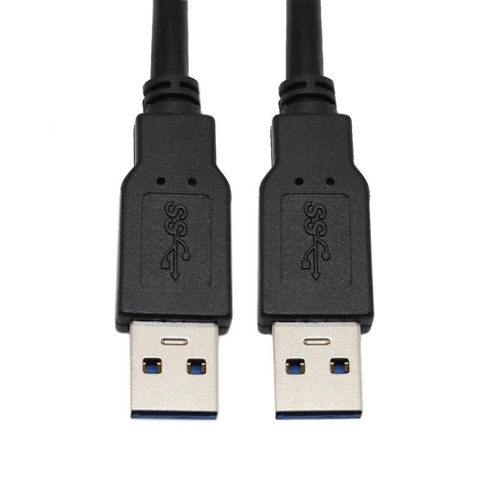 super speed usb 3 0 cable type a male to a male usb to usb cable black 10 feet ebay. Black Bedroom Furniture Sets. Home Design Ideas