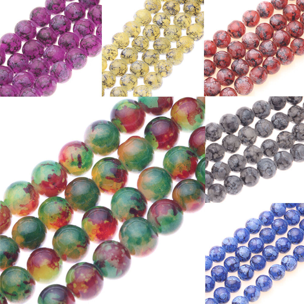 Lots 25/50Pcs 8mm Chic Czech Glass Round Loose Spacer