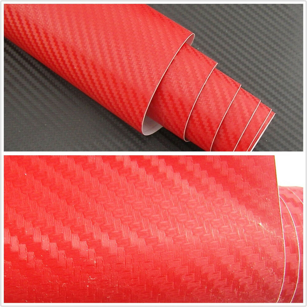 3d car interior accessories interior panel red carbon fiber vinyl wrap sticker ebay. Black Bedroom Furniture Sets. Home Design Ideas