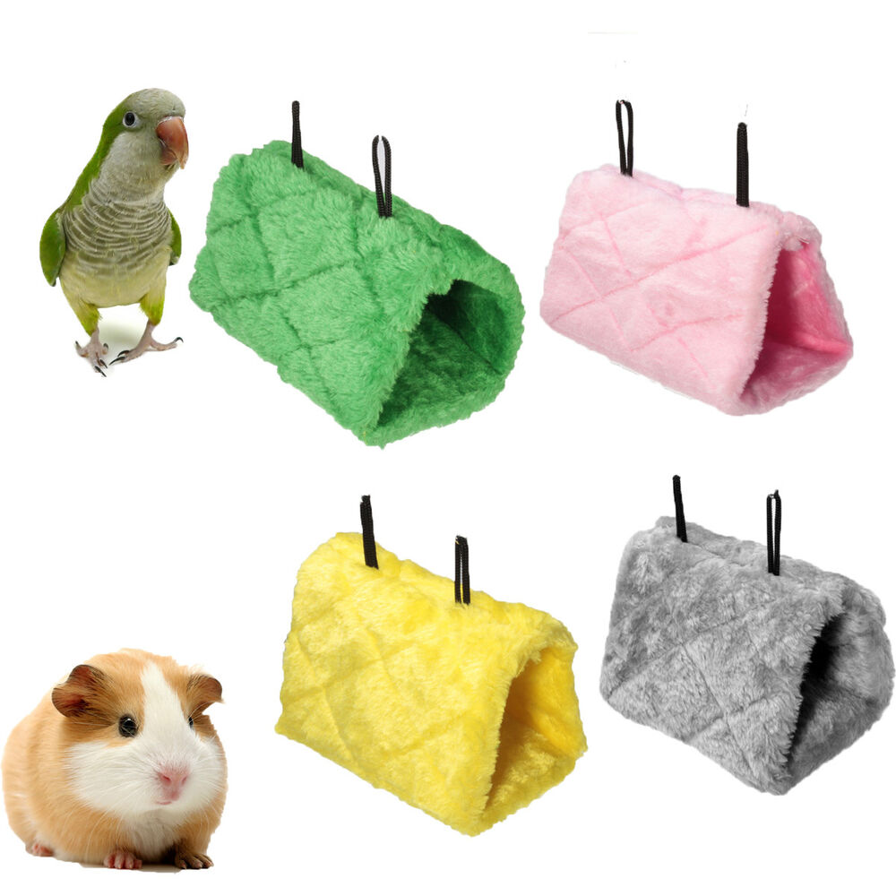 Bird Hamster Hammock Hanging Cave Cage Plush Tent Bed Bunk ...