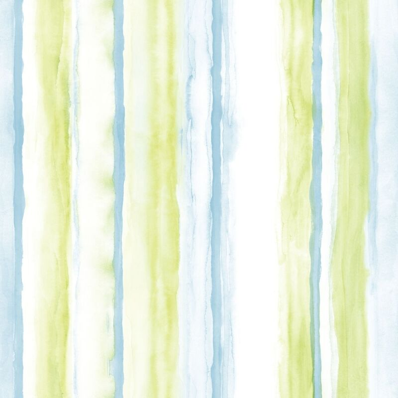 Beachy blue and lime green watercolor stripe on white for Lime and blue