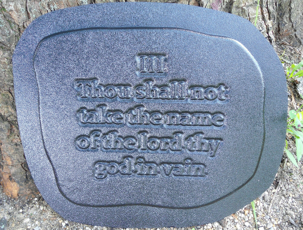 gostatue mold plaster concrete 10 commandments plaque. Black Bedroom Furniture Sets. Home Design Ideas