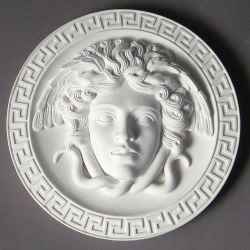 Medusa head greek wall art home decor plaque ebay - Plaque de decoration ...
