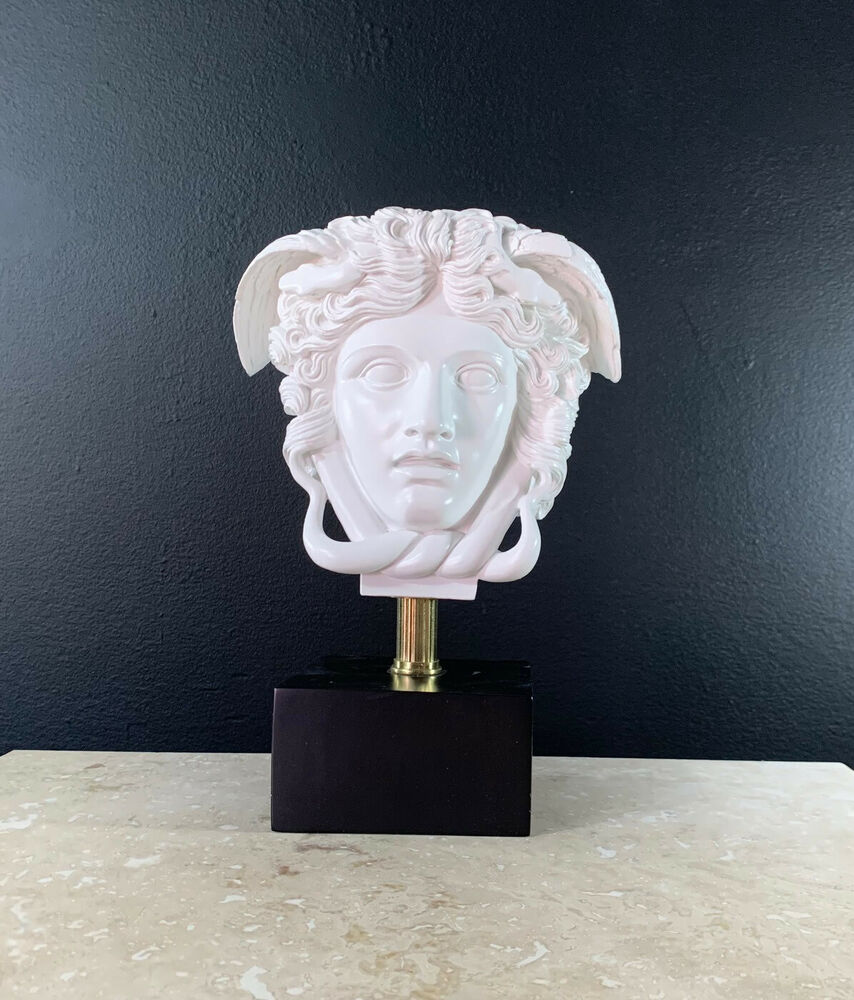 Medusa head greek art home decor bust statue sculpture ebay Home decor sculptures