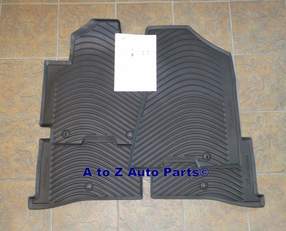 New 2016 2018 Hyundai Tucson All Weather Rubber Floor Mats