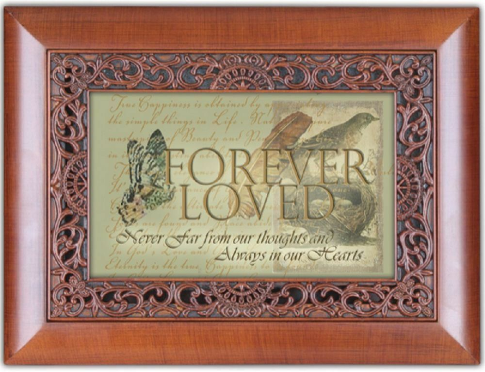 forever loved cottage garden orn woodgrain music jewelry box what a friend jesus ebay. Black Bedroom Furniture Sets. Home Design Ideas