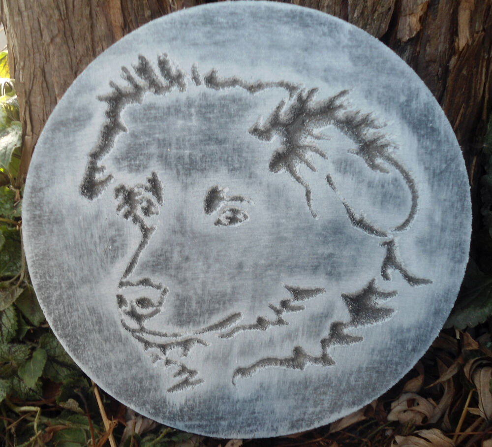 plastic plaque mold dog garden ornament decorative stepping stone mold ebay. Black Bedroom Furniture Sets. Home Design Ideas