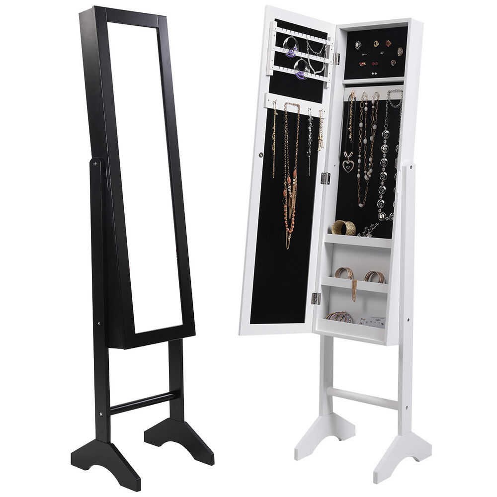 new mirror jewellery jewelry cabinet storage organiser On standing mirror jewelry storage uk