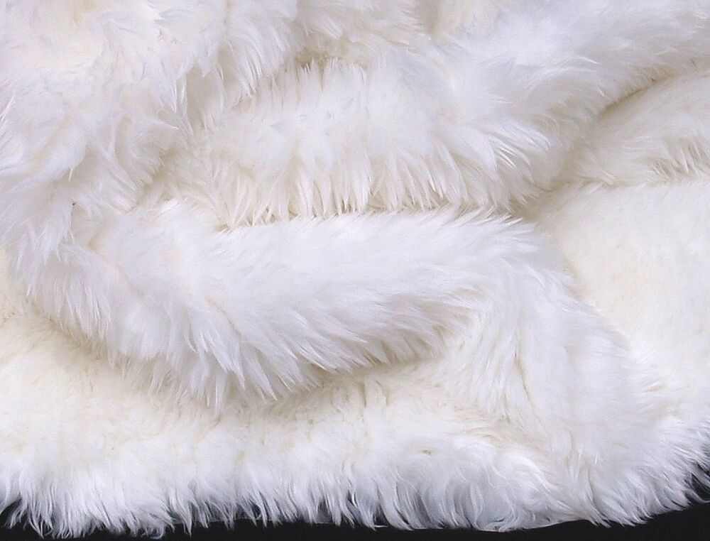 Pure White Faux Fur Area Rug 5 X 8 Washable Non Slip