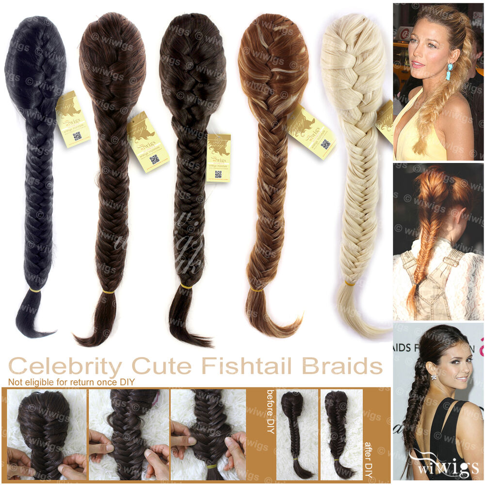 Wiwigs celebrity clip in fishtail plait braids ponytail hairpiece wiwigs celebrity clip in fishtail plait braids ponytail hairpiece extension ebay pmusecretfo Image collections