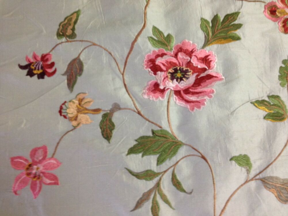 Claridge textile faux silk flower embroidery fabric by the