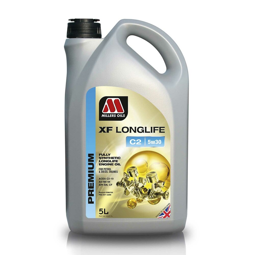 millers oils xf longlife c2 5w30 fully synthetic engine oil 5 litre ebay. Black Bedroom Furniture Sets. Home Design Ideas