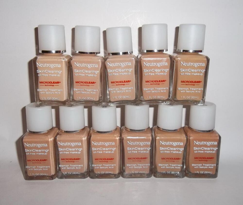 Neutrogena Skin Clearing Oil Free Makeup Foundation U PICK 1oz w/ Salicylic Acid | eBay
