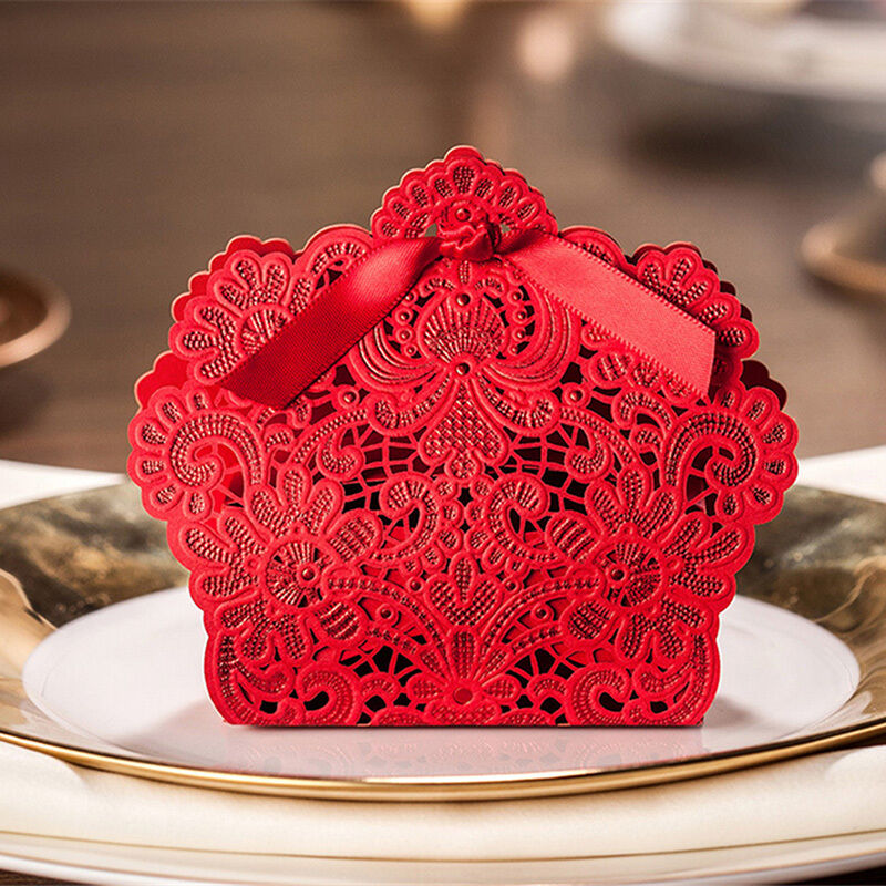 Personalized Laser Cut Wedding Favours Sweets Party Gift Candy Boxes ...