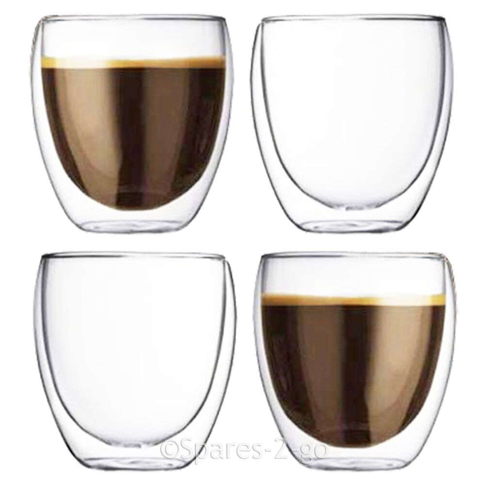 Espresso Coffee Glass ~ Double walled coffee glasses thermal tumblers cappuccino