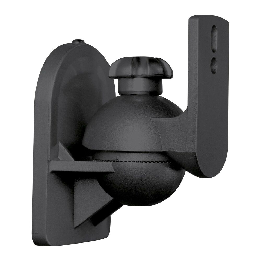 1 Universal Satellite Speaker Black Wall Mount Bracket