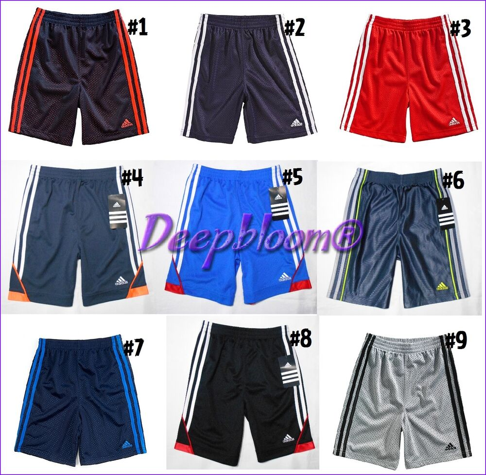 7a2dc5843 Details about ADIDAS SHORTS PANTS KIDS BOYS BASKETBALL MESH 4 5 6 7 BLUE  BLACK RED NEW