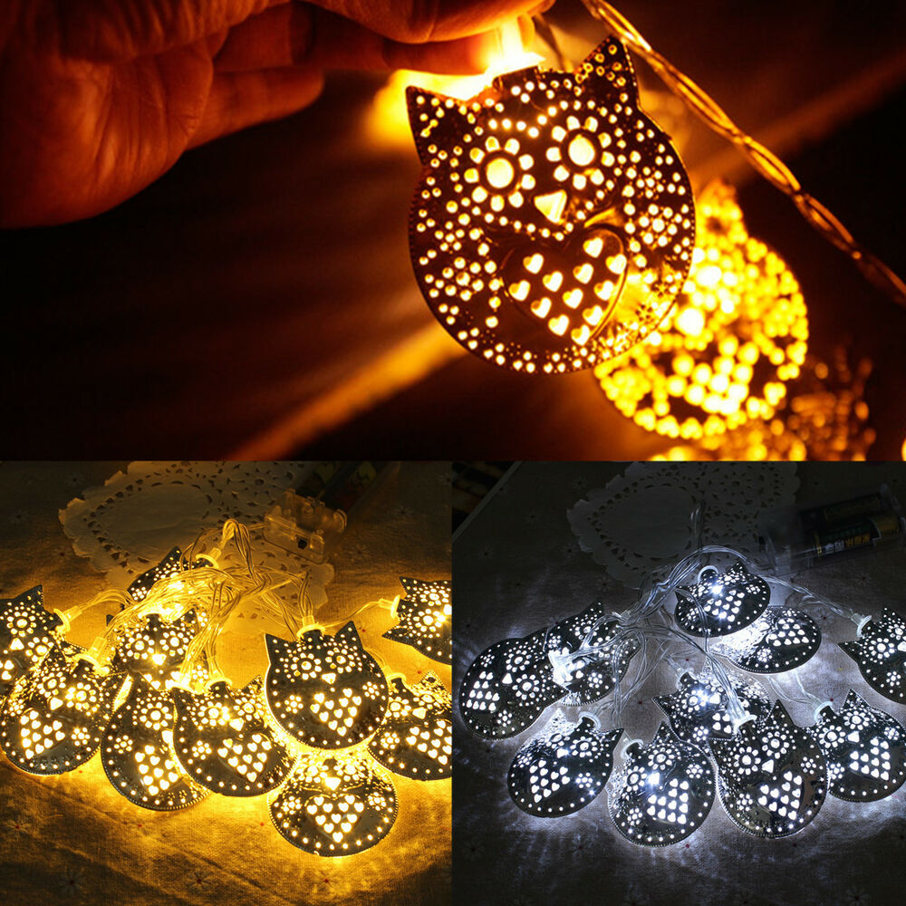 1.8m 10 LEDs Owl String Home Tree Halloween Christmas Party Lights Lamps Decor eBay