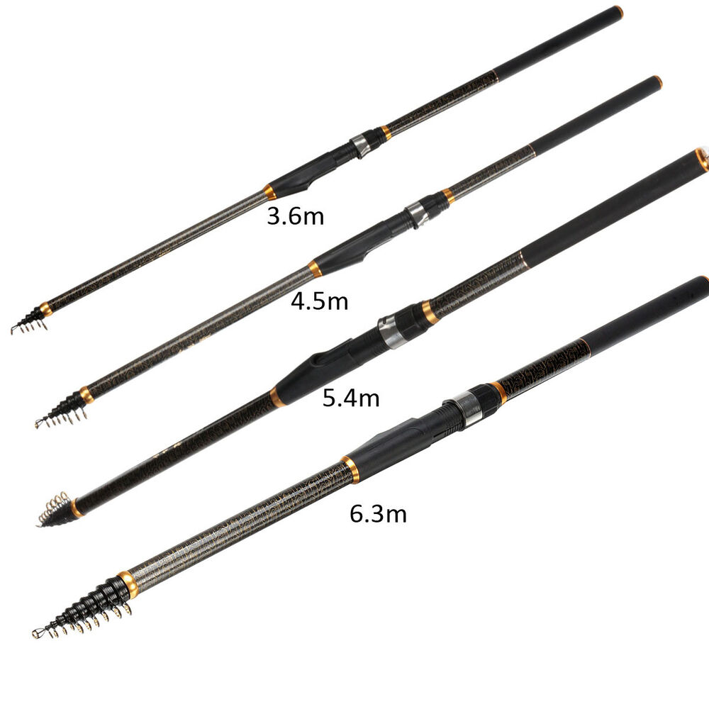 Carbon telescopic spinning casting pole for Ebay fishing poles