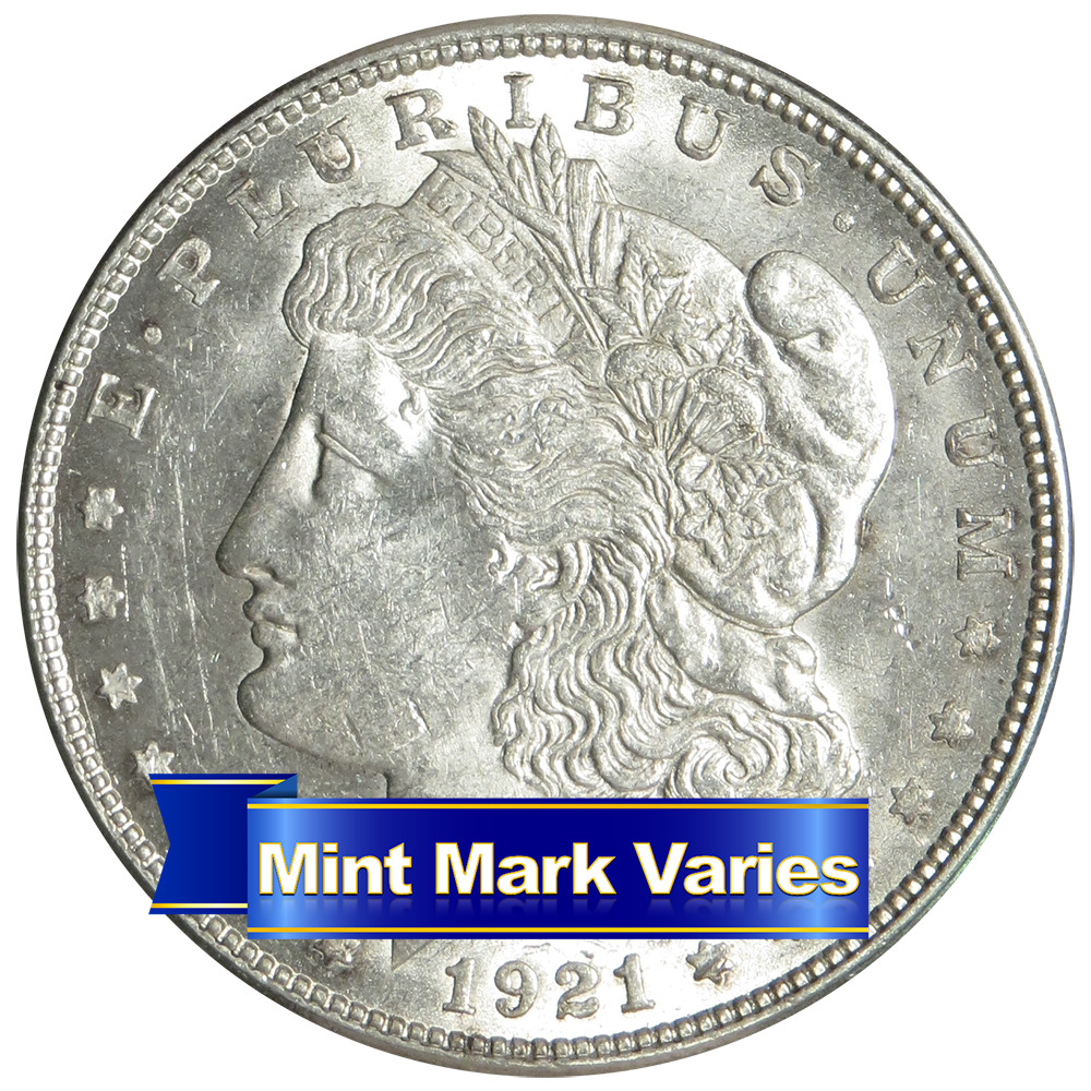1921 P D Or S 1 Morgan Silver Dollar About Uncirculated
