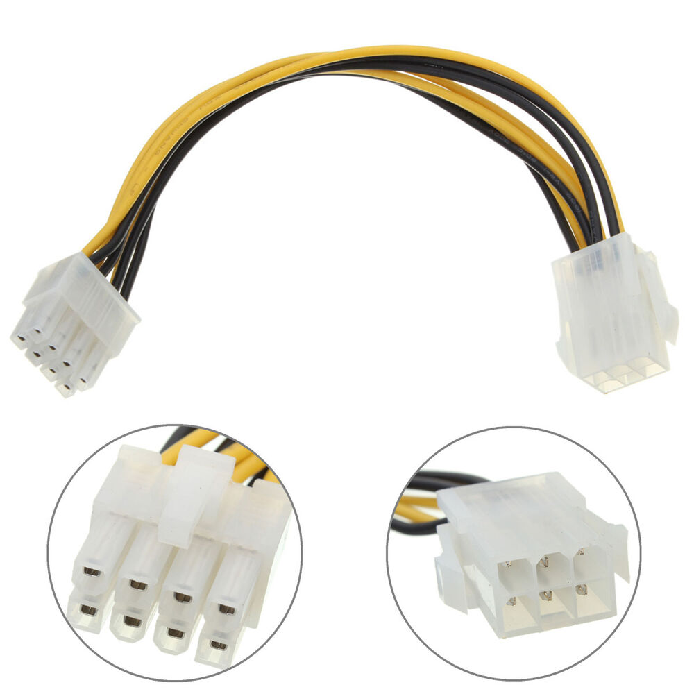 6 To 8 Pin Pci Express Power Converter Cable Cord