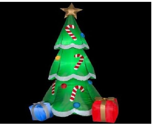 Ft h gemmy inflatable christmas tree with gifts new