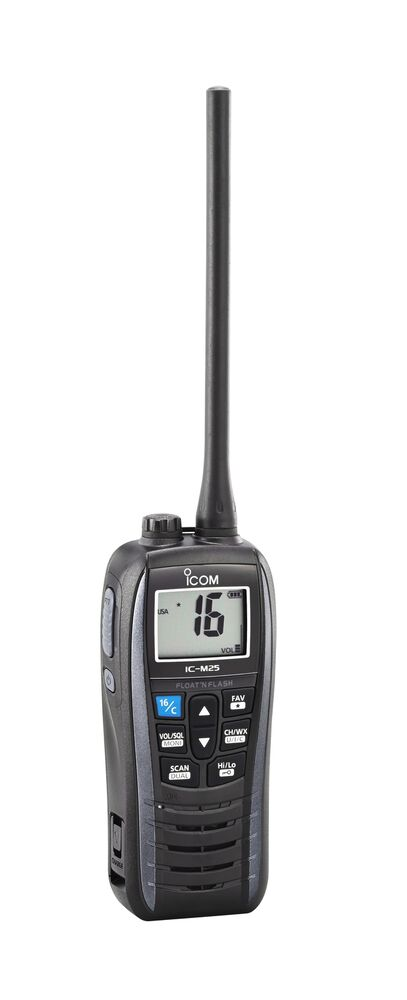 icom ic m25 vhf marine portable radio ebay. Black Bedroom Furniture Sets. Home Design Ideas