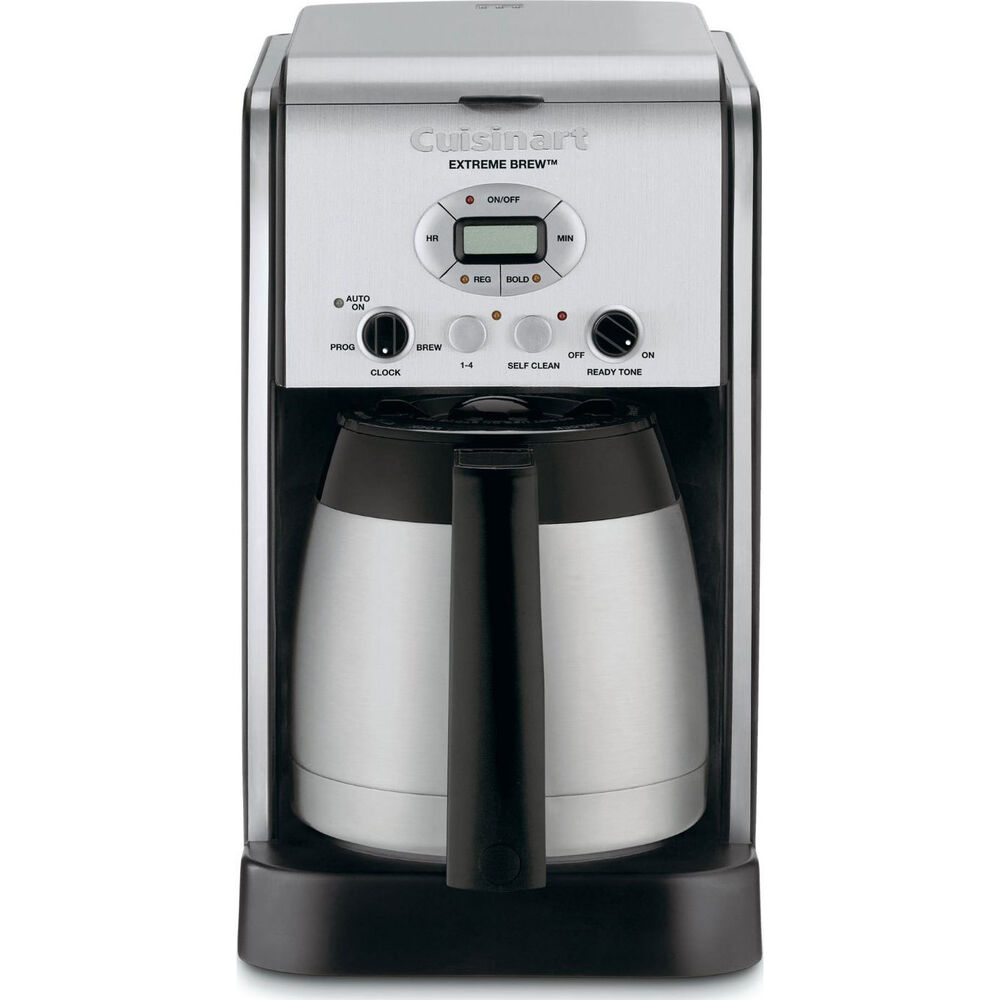 Cuisinart Coffee Maker Programmable Instructions : Cuisinart DCC-2750 Extreme Brew 10-Cup Thermal Programmable Coffeemaker - Silver 86279029720 eBay