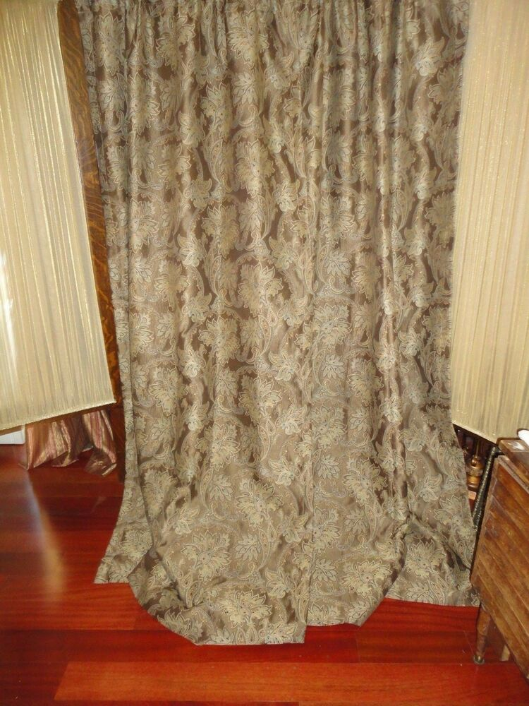 CUSTOM CROSCILL MARECLLA PAISLEY SHOWER CURTAIN FLORAL ...