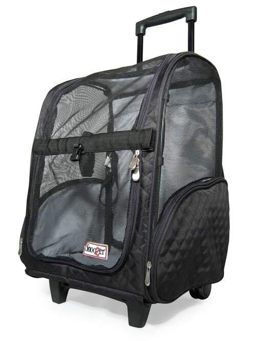 snoozer wheel roll around dog carrier car seat backpack bed 4 in 1 black medium ebay. Black Bedroom Furniture Sets. Home Design Ideas