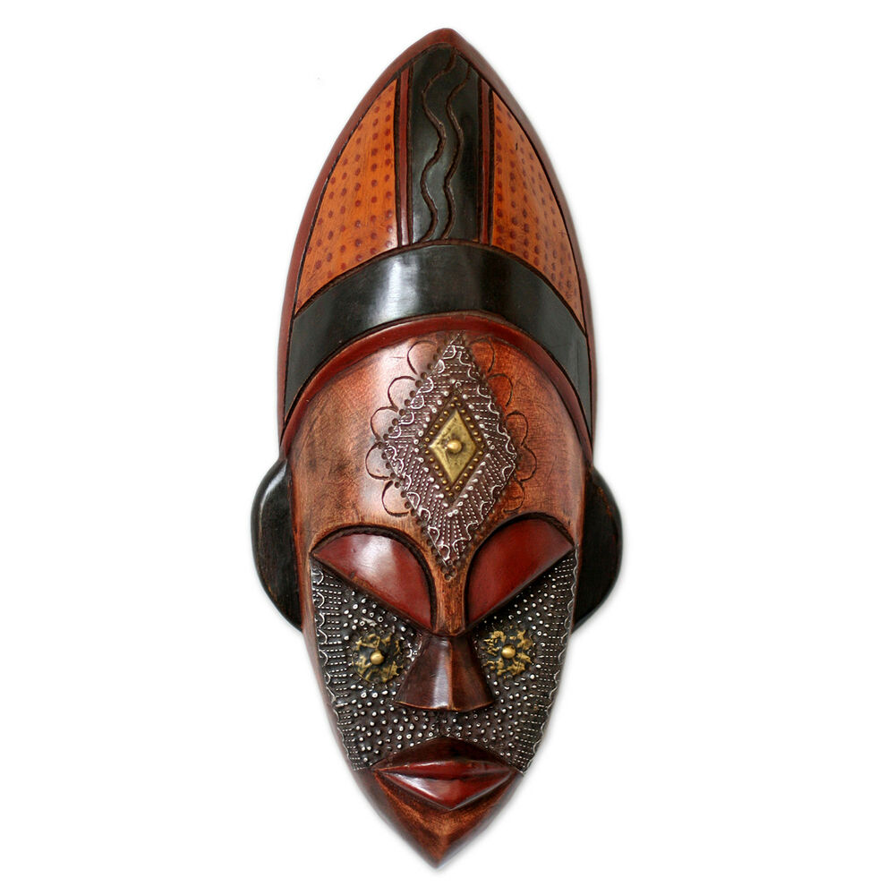 African Wood Mask Ivoirian Hand Carved 'Dan Beauty' NOVICA