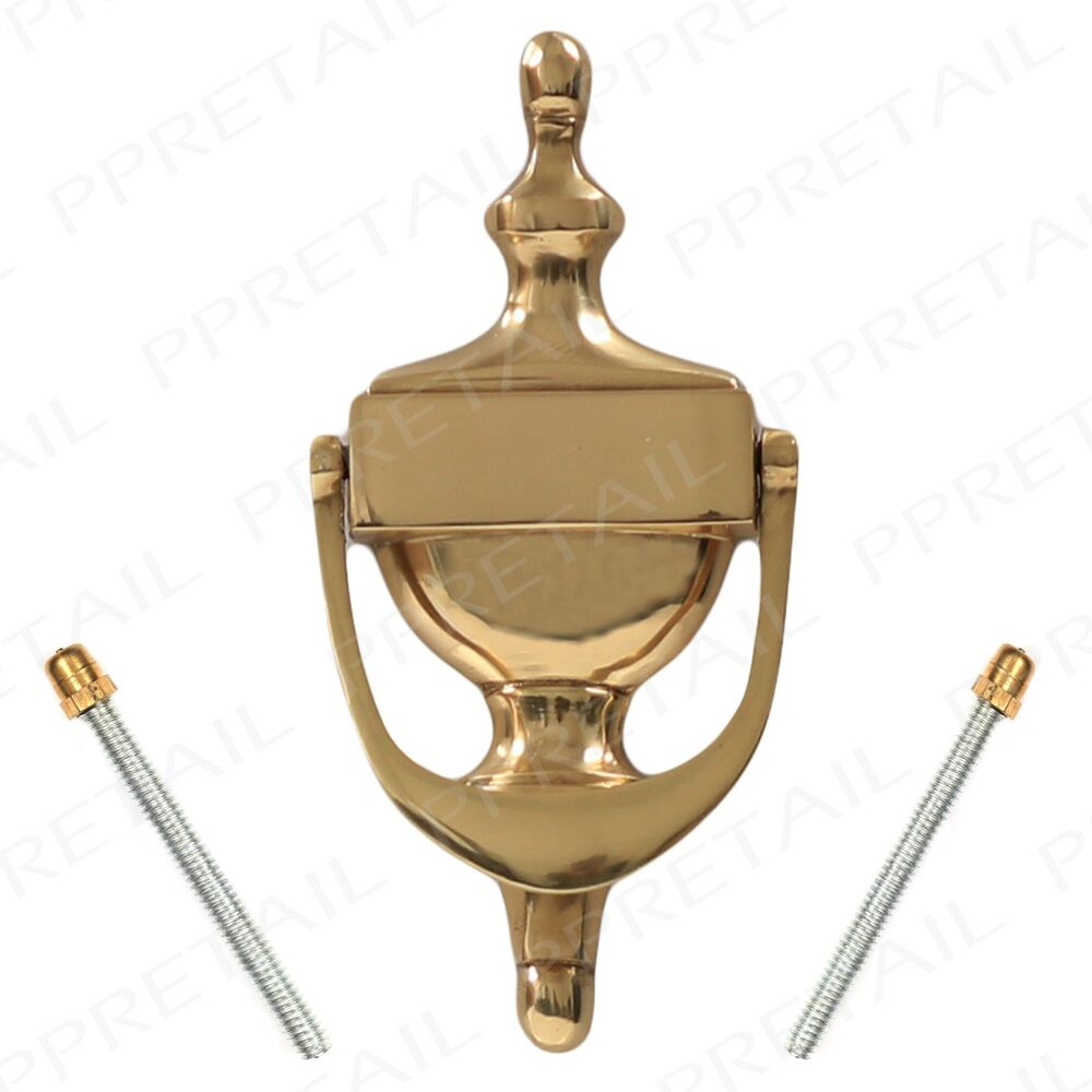Polished Solid Brass Urn Door Knockers Traditional