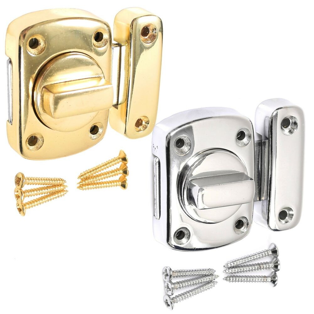 Bathroom door lock chrome or brasstoilet turn twist bolt for How to fix a bathroom door lock