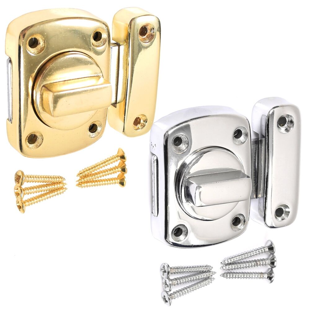 bathroom door lock chrome or brass toilet turn twist bolt privacy