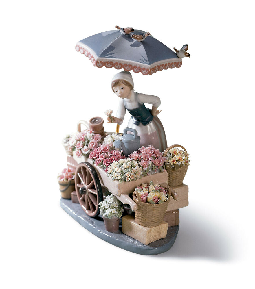 Lladro Flowers Of The Season Brand New In Box 1454 Woman