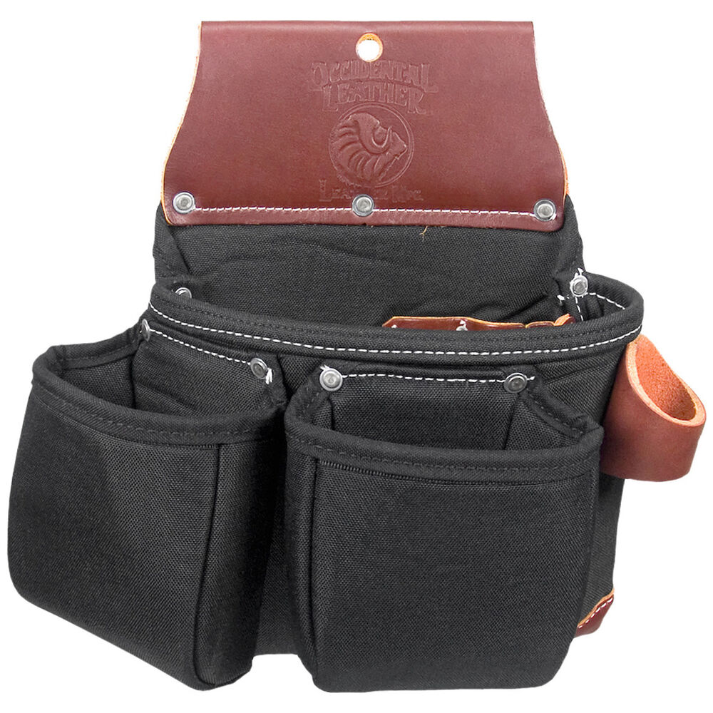 Leather Wall Equipment Holder: Occidental Leather B8017DB OxyLights 3 Pouch Tool Holder