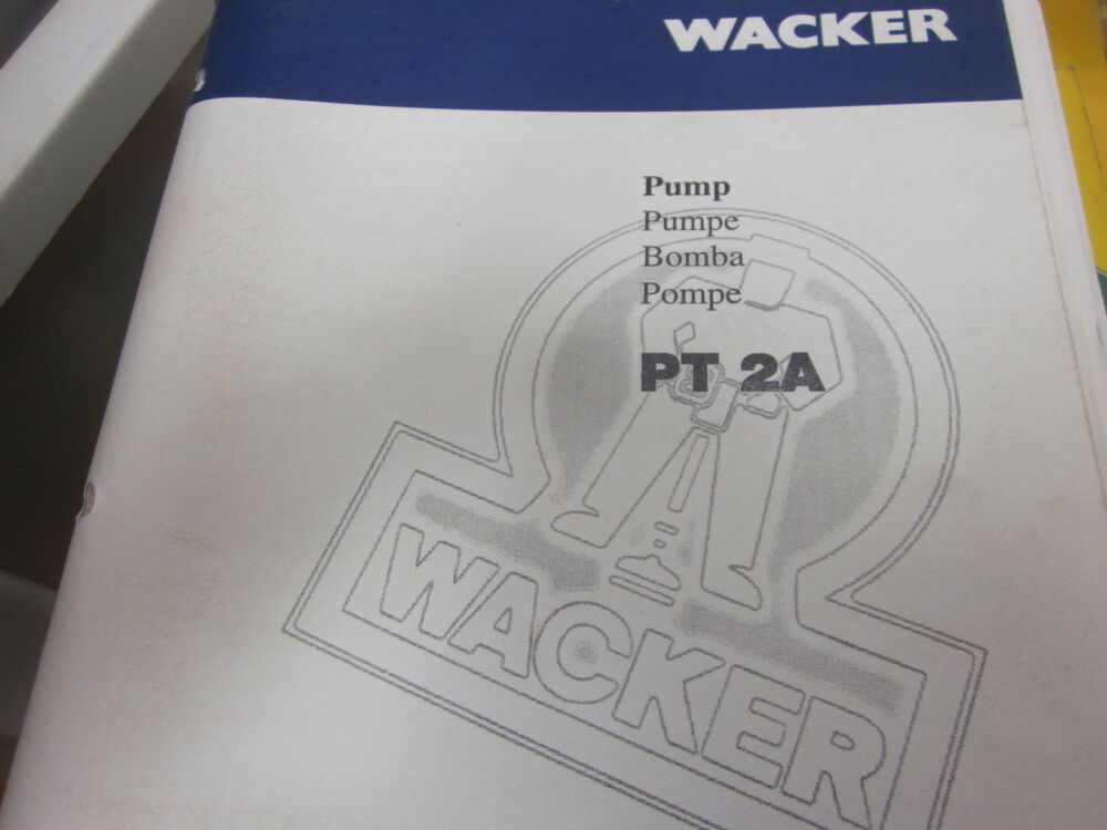 wacker pt 2a parts book operators manual ebay. Black Bedroom Furniture Sets. Home Design Ideas
