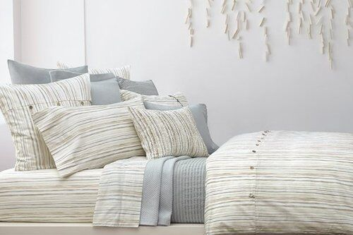New Dkny Pure Comfort Stripe Twin Duvet Cover Euro Sham