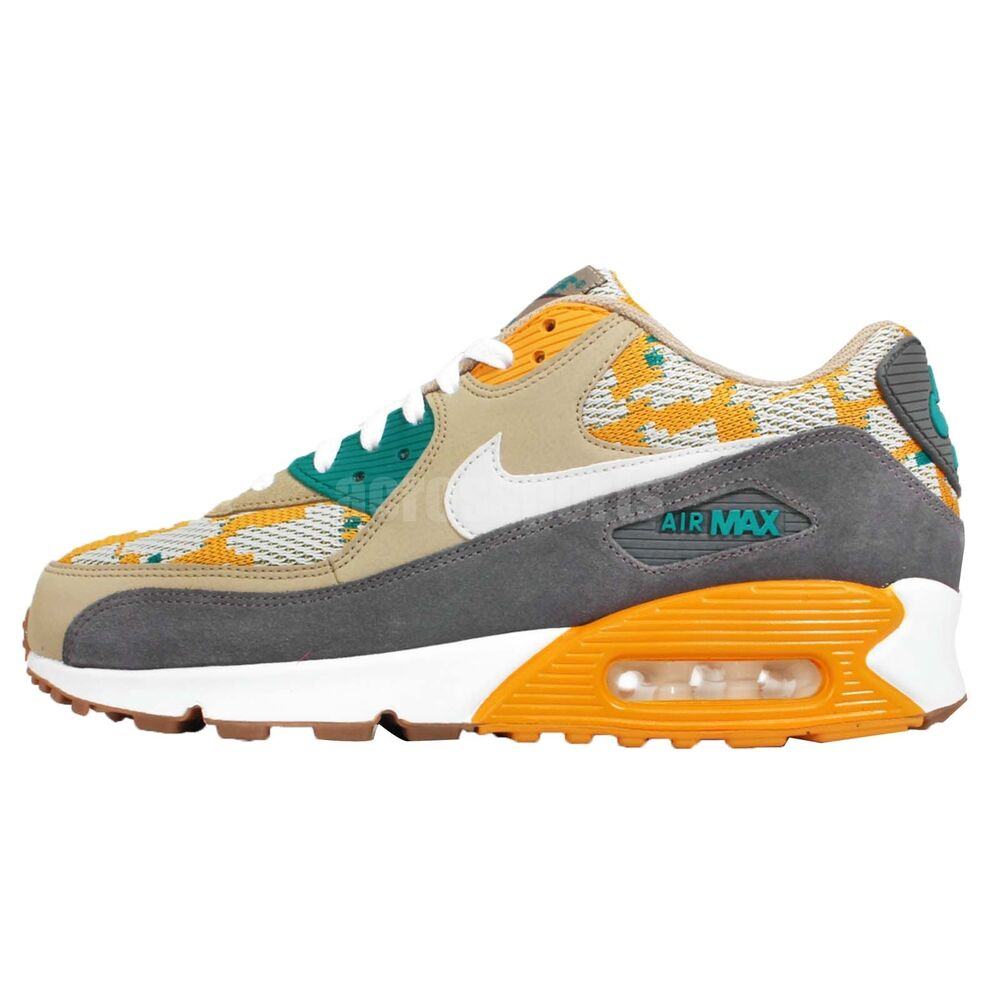 Nike Air Max 90 PA Gold Light Bone Grey Mens Running Shoes Sneakers 749674-700 | eBay