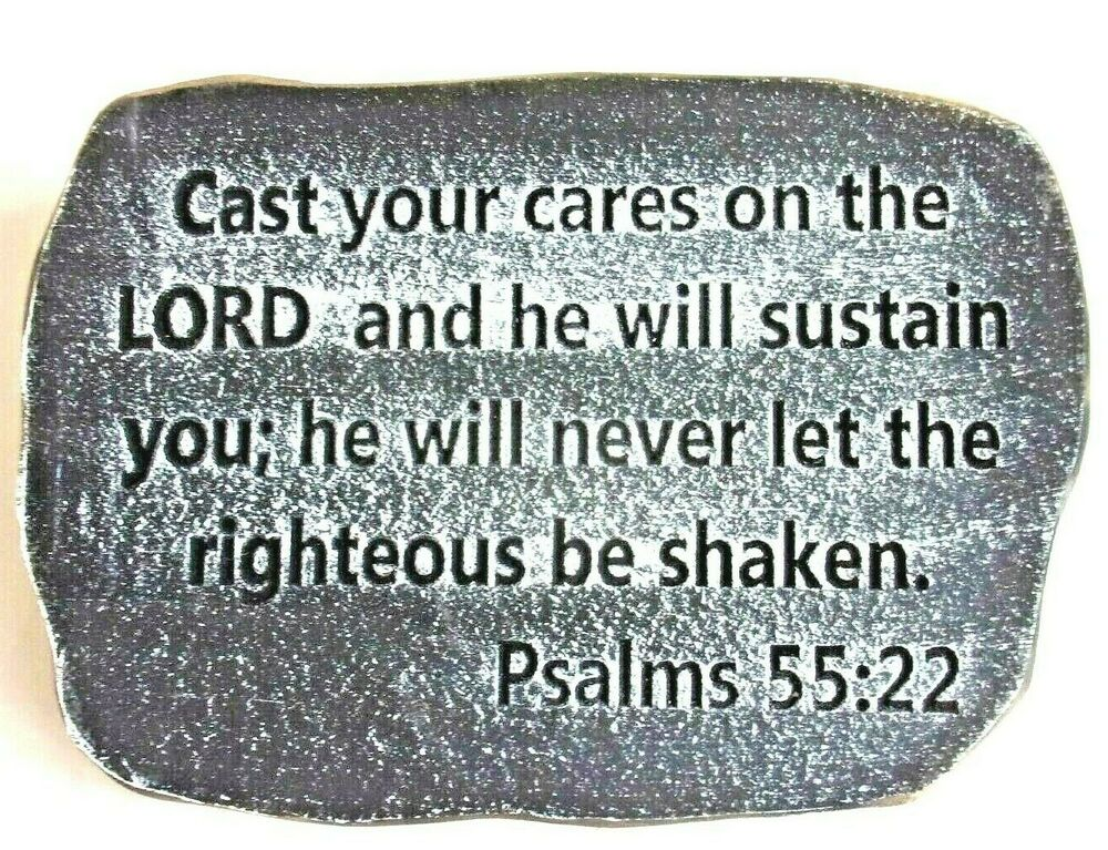 plastic religious plaque plastic mold psalms 55 22 cast. Black Bedroom Furniture Sets. Home Design Ideas