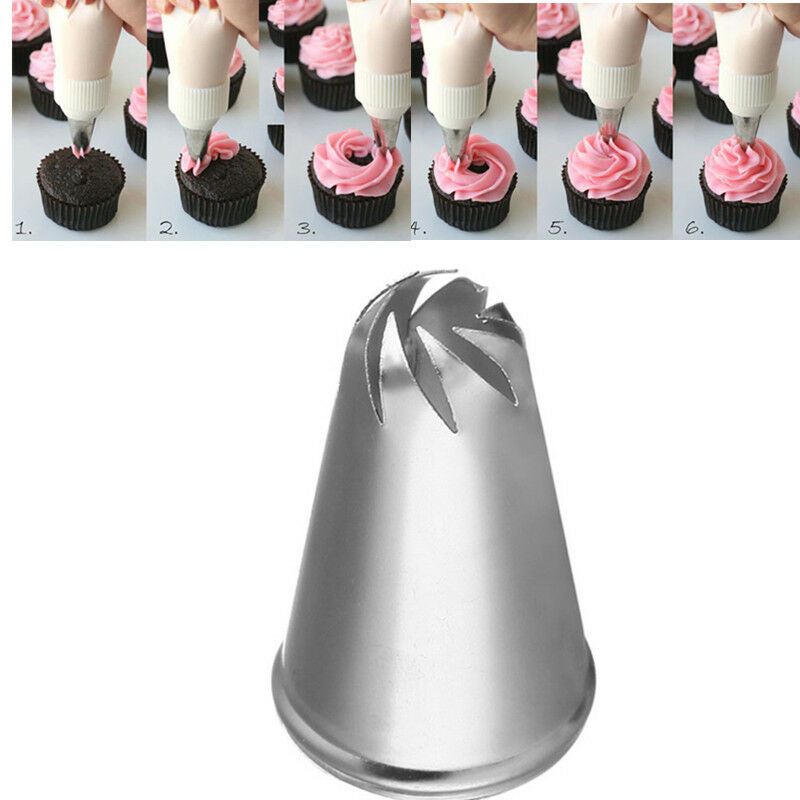 Cake Decorating Nozzle Tips : New Flower Spiral Icing Piping Tips Nozzle Cake Cupcake ...